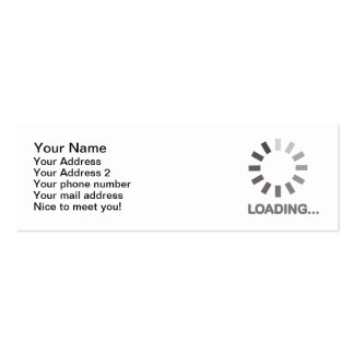 Internet de barre de chargement modèle de carte de visite
