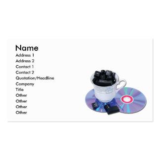 InternetCafe, nom, adresse 1, adresse 2, Conta… Carte De Visite