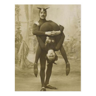 Interprètes de cirque victoriens vintages drôles cartes postales