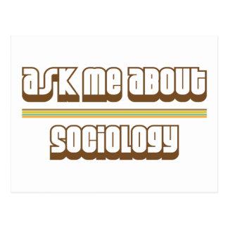 Interrogez-moi au sujet de la sociologie carte postale