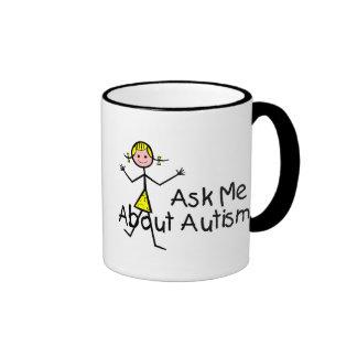 Interrogez-moi au sujet de l'autisme (fille 2) mug ringer