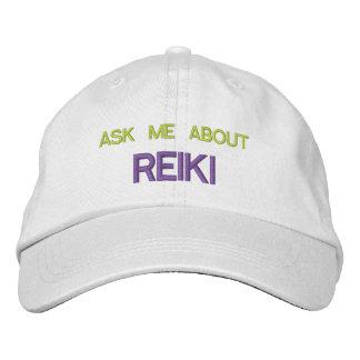 INTERROGEZ-MOI AU SUJET de REIKI - casquette Casquette Brodée