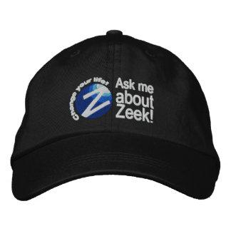 """""""Interrogez-moi au sujet de Zeek ! """"Noircissez le Casquette Brodée"""