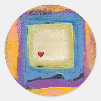 Intitulé :  Voyant l'amour - artiste unique Sticker Rond