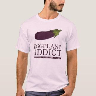 intoxiqué d'aubergine t-shirt
