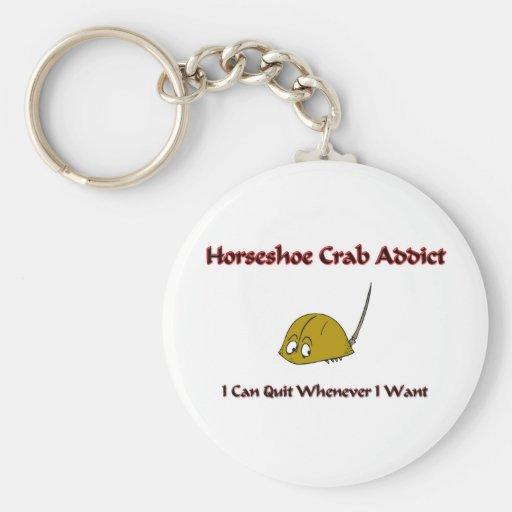 Intoxiqué de crabe en fer à cheval porte-clés
