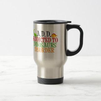 Intoxiqué de dinosaure mug de voyage