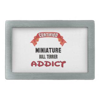 Intoxiqué miniature certifié de bull-terrier boucle de ceinture rectangulaire