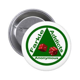 Intoxiqués de Farkle anonymes Badges