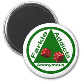 Intoxiqués de Farkle anonymes Magnet Rond 8 Cm