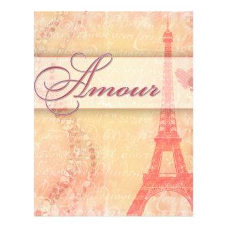 Intrigue amoureuse à Paris Prospectus 21,6 Cm X 24,94 Cm