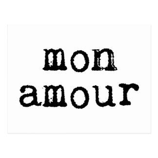 Intrigue amoureuse tapée à la machine de lundi carte postale