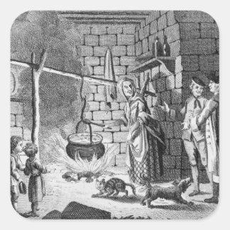 Introduction de Dr. Samuel Johnson à une montagne Sticker Carré