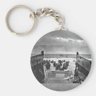 Invasion de la Normandie au le jour J - 1944 Porte-clé Rond