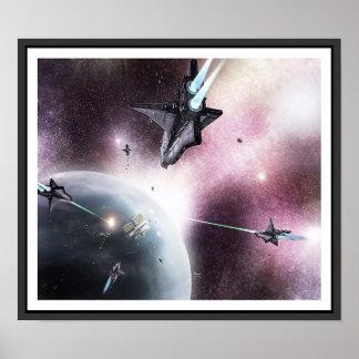 Invasion de l'espace affiche
