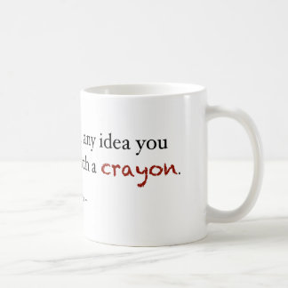 Investissement de crayon mug