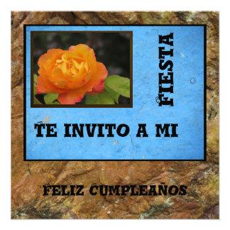 Invitación - Feliz Cumpleaños - orange se sont lev