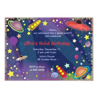Invitation 047 d'anniversaire de enfant : Espace