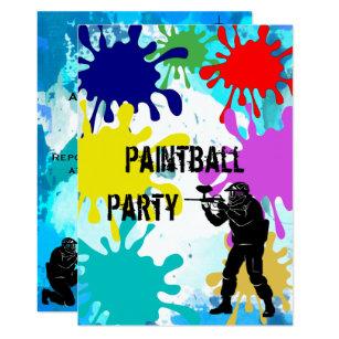 Invitation 14eme Anniversaire De Paintball
