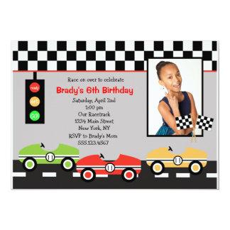 Invitation 2 d'anniversaire de Racecar Brithday de