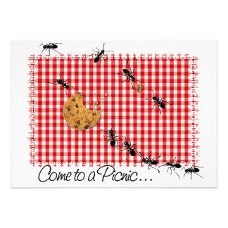 Invitation 2 de pique-nique de fourmi