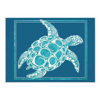 Invitation 2 de tortue de mer d'Aqua