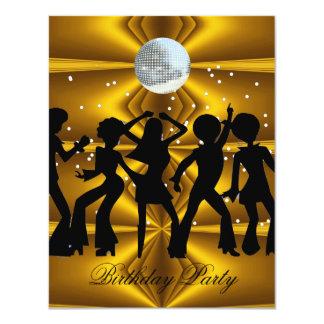 Invitation 4 de fête d'anniversaire de danse de