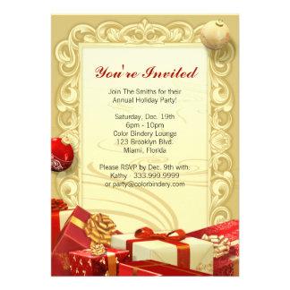Invitation 5 de cadeau et d ornement x 7