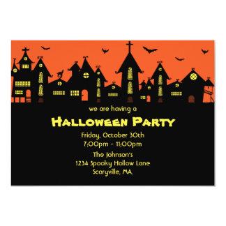 Invitation 5 x 7 de partie de Halloween