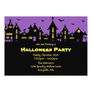 Invitation 5 x de partie de Halloween pourpre 7
