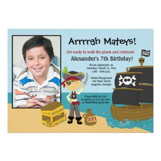 Invitation 5x7 de l anniversaire du garçon de phot