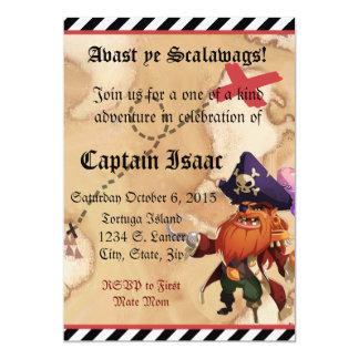 Invitation 5x7 de pirate