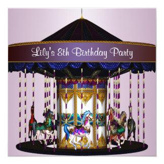 Invitation 8ème de fête d'anniversaire de poneys