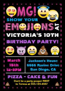 cartes anniversaire emoji