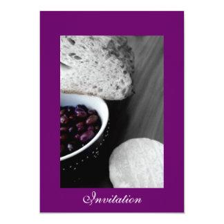 Invitation à la Francaise Carton D'invitation 12,7 Cm X 17,78 Cm