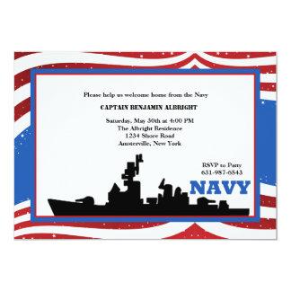 Invitation à la maison bienvenue de marine carton d'invitation  12,7 cm x 17,78 cm