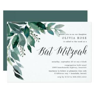 Invitation abondante de bat mitzvah du feuillage  