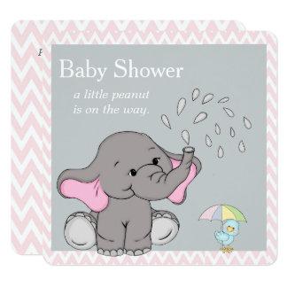 Invitation adorable de baby shower d'éléphant de