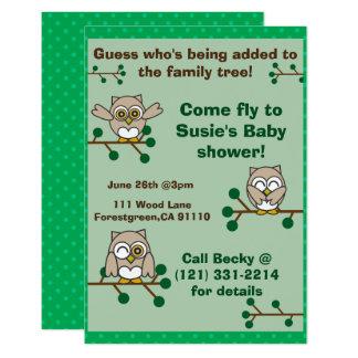 Invitation adorable de hibou