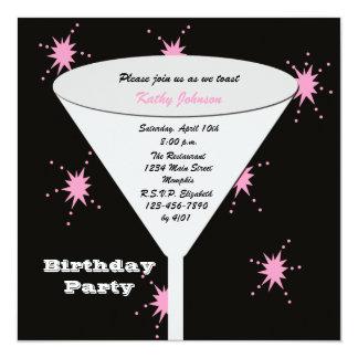 Invitation adulte de fête d'anniversaire -- Son