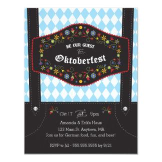 Invitation allemande de partie d'Oktoberfest