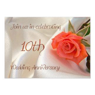 invitation anniverary de partie de 10ème mariage