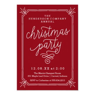Invitation annuel de fête de Noël de cadre