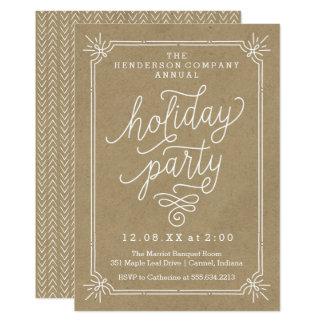 Invitation annuel de fête de vacances de cadre