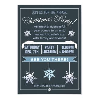 Invitation annuelle de fête de Noël de flocon de