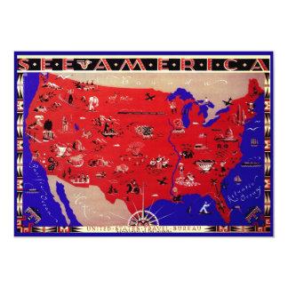 Invitation antique des Etats-Unis d'Amérique de