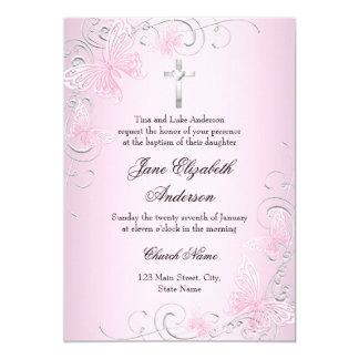 Invitation assez rose de papillon de remous et de