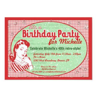 Invitation astucieuse de fête d'anniversaire des