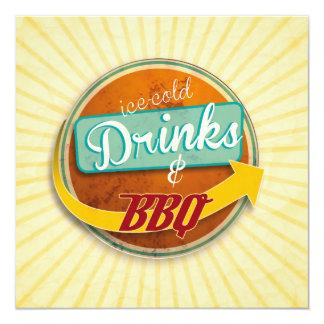 Invitation au BBQ style d'année cinquante