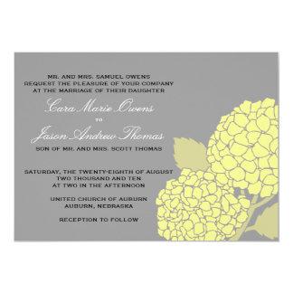 Invitation audacieuse de mariage d'hortensia